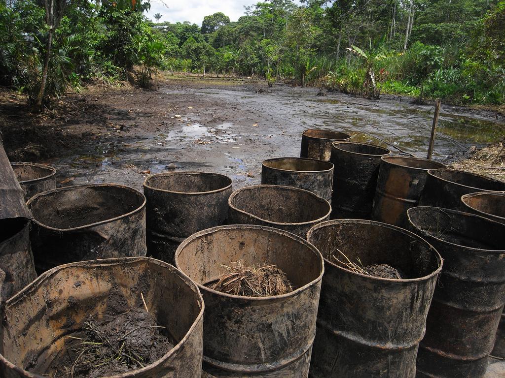 Oil barrels in Ecuador