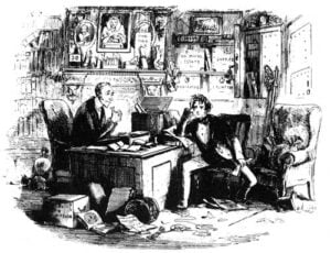 Lawyer and Client illustration from Bleak House