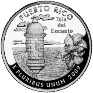 Reverse of Puerto Rico quarter