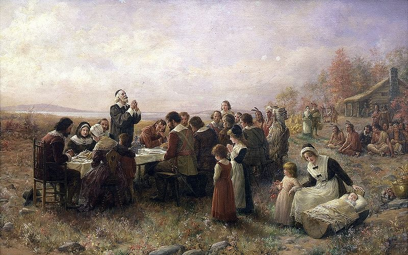The First Thanksgiving at Plymouth