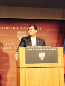 Rafael Correa at Harvard