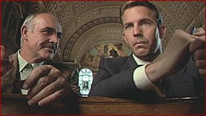 Sean Connery and Kevin Costner in The Untouchables