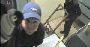 Bank robbery surveillance footage