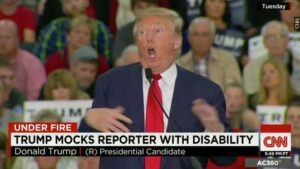 Donald Trump mocking a disabled reporter