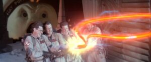 The Ghostbusters crossing the streams