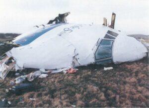 Wreckage of Pam Am Flight 103