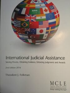 Cover of International Judicial Assistance, second edition