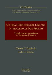 Cover of General Principles of International Due Process