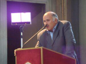 Jibril Rajoub giving a speech