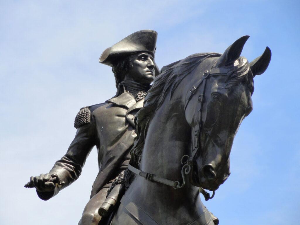 Statue of George Washington in Boston's Public Garden