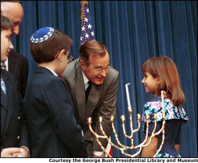Menorah lighting at the Bush White House