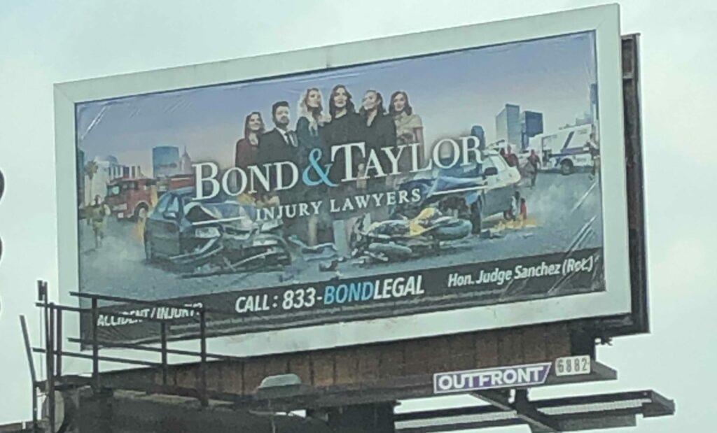 Bond & Taylor billboard