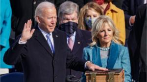 President Biden being sworn in