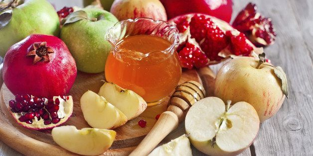apples, honey and pomegranates